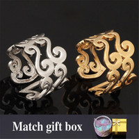 Wholesale Design Gold Letter Ring - New 18K Real Gold Plated Unique S Letter Design Wholesale Fashion Jewelry Wedding Bands Vintage Rings For Women  Men R309