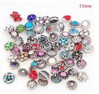 Diy snap button 100pcs / lots Metal pequeno snap button random delivery noosa snap button fit for bracelet necklace jelwery free shipping hot