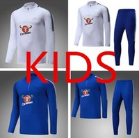 Wholesale Children S Sports Suits - hight quality Kids soccer Tracksuit 17 18 HAZARD WILLIAN Track suits jacket Child FABREGAS MORATA chandal training suits sports wear
