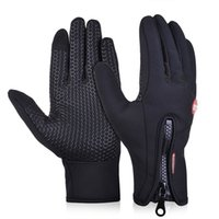 Wholesale Winter Running Gloves - bicycling gloves Touch screen gloves Outdoor Cycling Riding Bicycle skiing Glove Winter warm for Sports Weightlifting gloves