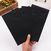 Atacado- 5 PCS DIY Envelope De Alta Qualidade Estilo Europeu Retro Preto Papel Bronze Envelopes Gift Card Office Stationery Supply
