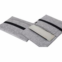 """Wholesale 17 Laptop Case Handles - Wool Felt Inner Tablet Notebook Laptop Overgrown-type Sleeve Case Carrying Handle Bag for11 13 15"""" Macbook Air Pro Retina Briefcase Cover"""