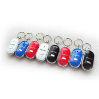 Wholesale cell phone pets - 10 Pieces Lot LED Key Finder Locator Find Lost Keys Chain Keychain Whistle Sound Control Avoid the loss of key