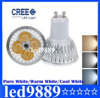 Wholesale Warm Cool Pure White Led - Retail Dimmable 85~265V CREE 4 LED Downlight GU10 4x3W 12W Light Pure White Warm White Cool White CE ROHS