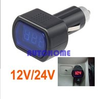 Wholesale Mini 12v Gauge - 1 X Digital Mini LED 12V 24V Car Vehicle System Voltmeter Voltage Gauge Volt Meter Tester order<$18no track