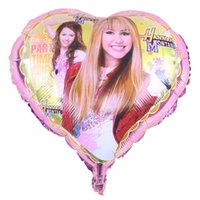Wholesale Heart Shape Balloon Decoration - Foreign trade explosion models 18 inch heart-shaped aluminum balloons orex Star Band one-way   Hanna balloon decoration wholesale