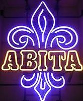 Wholesale Neon Crafts - New Abita Glass Neon Sign Light Beer Bar Pub Sign Arts Crafts Gifts Lighting Size:24""