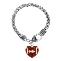 Wholesale Chain Fencing - 20pcs lot Mixed Crystal Fence Shape in Heart Lobster Clasp Thick Link Chain Bangle For Handmade Jewelry (BA126514)