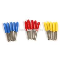vinil kesiciler çizicileri toptan satış-15 adet / grup Kesim Plotter Bıçak 30/45/60 Derece Yüksek Kalite Liyu GCC Roland Kesici plotter vinil için Bıçakları
