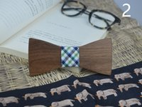 Wholesale Excite Woman - Wholesale Exciting Xmas Decoration Big Rectangle Tie Walnut Prom Party Bow Tie Big Bowknot Leisure Personality Accessory Wood Bow Tie