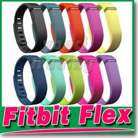 Wholesale Fitbit Flex Wristband Small - Fitbit Flex Wristband Large Small Band With Metal Clasps Replacement Rubber TPU Wrist Straps For Activity Bracelets Smart Wristbands