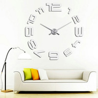 Wholesale Multi Effects Light - Removable Sticker for Home Decoration Simple Digits DIY Wall Clock Decor Modern Sticker Set Mirror Effect Acrylic Glass Decal