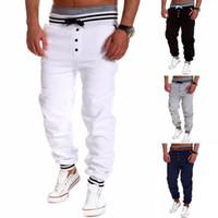 Wholesale men long baggy pants - Outdoor Trousers Hot Sale Casual Mens Letter Printing Baggy Harem Cool Long Loose Sweatpants Jogger Sport wear Pants Size M-3XL