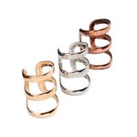 Wholesale number plate clips - New Ear Cuff Delicate Non-pierced Ears Earring Jewelry Gold Silver Bronzed Ear Clip Earrrings free shipping
