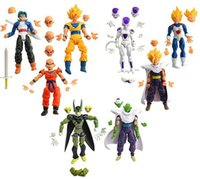 Wholesale Dbz Balls - Wholesale-8pcs Dragonball Z Dragon ball can face transplant and palm DBZ Goku Piccolo Model Toys Assembly Toys Compatible Action Figure toy