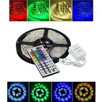 Wholesale Changeable Car - 5M 16.4ft 12V Flexible LED Strip LED Tape Light 5050 RGB Colorful LED Kit Waterproof for DIY Christmas Holiday Home Car Bar Party Decoration