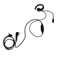 Imitación K Head AB Ear Hook Auricular con 2 Pin PTT Microphone Headset para KENWOOD Baofeng PUXING HYT Portable Two Way Radio