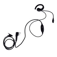 Imitazione K Head AB Ear Hook Earpiece con 2 Pin PTT Microphone Headset per KENWOOD Baofeng PUXING HYT Radio Two Way portatile