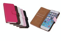 Wholesale Iphone Tongue Cases - iPhone 6 6s 4.7 inches Luxury PU Leather Case Cell Phone Accessories with PC Cover cases card slot wallet Stand magnet tongue