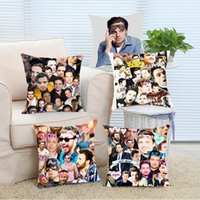 Wholesale 14x14 Pillow Case - Wholesale- Pillow Case Popular Sebastian Stan Collage Cool Soft Pillow Cover Case 14x14 16x16 18x18 20x20 24x24 inch Two Side Zippered Thr
