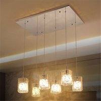 Wholesale Pendant Light Aluminium Wire - Modern Crystal Aluminium Wire Glass Pendant Lamp Restaurant Living Room Bedroom Chandelier Bars Stairs Fashion Pendant Light