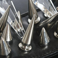 Wholesale Rivet Stud Diy - 2015 Hot 100PCS Set 9.5MM Silver Cone Spikes Screwback Studs DIY Craft Cool Rivets Punk