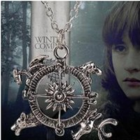 Wholesale Free Song Games - Free shipping !Game of Thrones Compass Necklace A Song of Ice and Fire Film Compass necklace