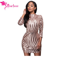Уважаемый любовник Sequin Bodycon Dress Sexy Christmas Champagne Detail Open Back Party Mini Club Party Dress Vestidos Paillette LC22891 q1113