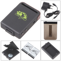 Wholesale Gprs Tracking Software - TK102 Realtime Car GPS Tracker Quad Band GSM GPRS GPS System Tracking Device with free monitor software with 2 Batteries 12pcs lot