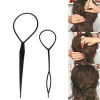 Wholesale Beauty Braids - Wholesale-Stylish 2 Pcs Fashion Topsy Tail Hair Braid for women Pony Tail Maker Salon Home Beauty Styling Tools