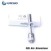 Wholesale Dual Tank Cartomizer Wholesale - Authentic Ismoka Eleaf GS-Air GS Air Atomizer Airflow Adjustable 2.5ml Cartomizer Tanks Dual Coil Head GS Air e-cig Tank GS Eleaf Atomiser