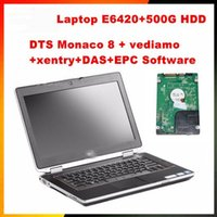 2017.12 E6420 4G / I5 Laptop mit 500G Software DTS Monaco8 + Vediamo + Xentry + DAS + EPC installiert in HDD für MB Star C4