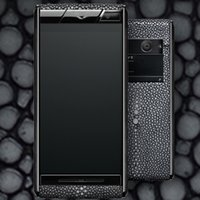 """Wholesale Rain Skins - Unlocked Signature Touch Aster Cool Black Pearl Rain Skin Real leather 4.7"""" Amoled Screen Octa Core MTK6592 CEO gift Android Cell phone"""