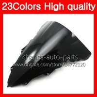 Barato Yamaha R1 Black Windshield-23Colors Motorcycle Windscreen para YAMAHA YZFR1 09 10 11 YZF R1 YZF 1000 YZF1000 YZF-R1 2009 2010 2011 Chrome Black Clear Smoke Windshield