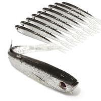 заниматься приманками оптовых-20 шт. 10 см 4 г 3D Глаза Бионические Рыбы Силиконовые Рыболовные Приманки Мягкие Приманки Приманки Искусственные Приманки Pesca Рыболовные Снасти Аксессуары
