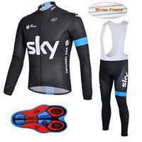 Wholesale Sky Long Sleeve Cycling Jersey - 2016 team sky new KTM fleece winter Cycling clothing long sleeve cycling jersey sets ropa ciclismo MTB bike jersey maillot ciclismo