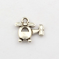 Wholesale Helicopter Charms Silver - Hot ! 150pcs Antique Silver Alloy Helicopters Charms DIY Jewelry 15 x 14mm
