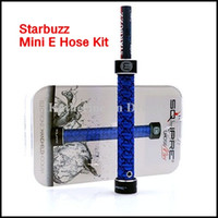 Single Black Metal Starbuzz Mini E hose Mini Ehookah Ehose Mini e-hose Square Handled Hookah e shisha Portable Mini e cig E hookah Square E-hookah E Cig kits