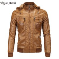 Atacado- Vogue Anmi 2017 Inverno Warm Fleece Men's Leather Jackets Casual Men Vintage Motorcycle PU Jacket Masculino Moto Coats Brand Clothing