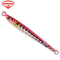 Wholesale bait knives online - 5PC Jigging Lead Fish G CM Metal Jig Fishing Lure Color Paillette Knife Wobbler Artificial Hard Bait