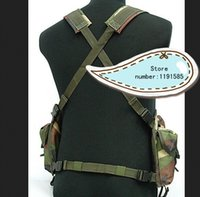 Wholesale Tactical Vest Woodland - Fall-Outdoor tactical ride AK multi-pocket magazine chest rig carry cs vest Woodland