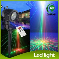 Wholesale Starry Stage Light - 2015 Outdoor Laser Stage Lighting Waterproof Garden Lights Starry Firefly Landscape Light Green&Red Projector Graden Landscape Floodlight