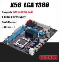 Wholesale 8gb Server - Freeshipping For Intel planform desktop motherboard new X58 board LGA 1366 support REG ECC server memory All solid boards x 58 16GB 8GB