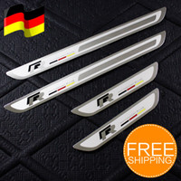 Wholesale Scuff Plates Jetta - Freeshipping!!New Stainless Door Sill Scuff Plate For VW Jetta MK6 Golf 6
