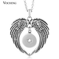 Wholesale interchangeable heart pendant - NOOSA Ginger Snap Necklace Interchangeable Jewelry with Stainless Steel Chain NN-048