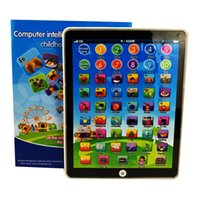 Wholesale Laptop Toy Ipad - Newest Touch Screen Large IPAD English Learning Laptop Computer Game Music Phone Learning Machine Kids Educational Tablet Toy Random Color