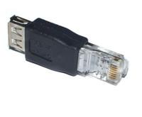cable conector hembra rj45 al por mayor-Nuevo conector de adaptador hembra a Ethernet RJ45 USB A