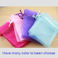 Wholesale Organza Logo - Fashion Jewelry Gift Bags 4in x 6in (12cmx17cm) can print Logo Travel cheap Drawstring Organza Pouches