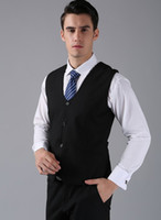 Wholesale Men Satin Waistcoat - New Arrival Groom Vests Black Groomsmens Best Man Vest Custom Made Size and Color Four Buttons Wedding Prom Dinner Waistcoat K202