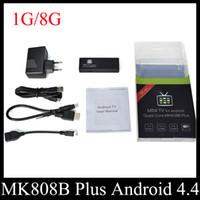 Wholesale Quad Core Miracast Dongle - MK808B Plus Amlogic M805 Quad Core Android TV Box Mini TV Dongle 1G 8G H.265 Hardware Decode Bluetooth DLNA Miracast OTH114